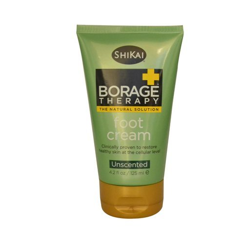 Shikai Products Borage Dry Skin Foot Cream 4.2 oz ( Multi-Pack)