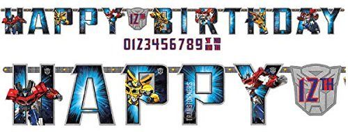 Transformers Kids Birthday Party Jumbo Add An Age Letter Banner 10 Ft. (1ct)]()