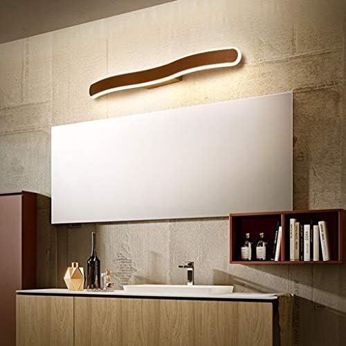GYC Spiegelleuchte - Moderne, kreative LED-Spiegelleuchte mit Frontleuchte in Braun, Aluminium-Acryl, Schminktisch for das Bad im Hotel - 40/60/80/100 / 120cm GYC (Color : Three-color dimming)