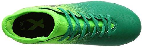 adidas X 16.3 Tf J, Botas de Fútbol para Niños Solar green-Core black