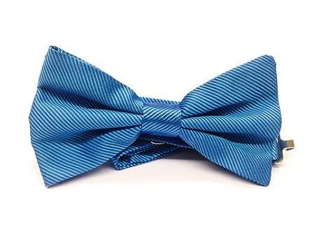 Real Luxury Napoli - Corbata de lazo de seda azul celeste: Amazon ...