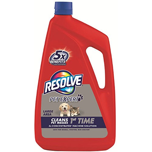 Resolve Pet Carpet Steam Cleaner Solution, 288 fl oz (6 Bottles x 48 oz), 2X Concentrate (Pack of 3) - 48 Ounce Carpet Detergent