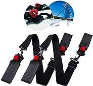 Shoulder Ski Carrier Straps Sling with Cushioned Holders, 2 Pack Adjustable Ski Shoulder Lash Handle Straps Ca