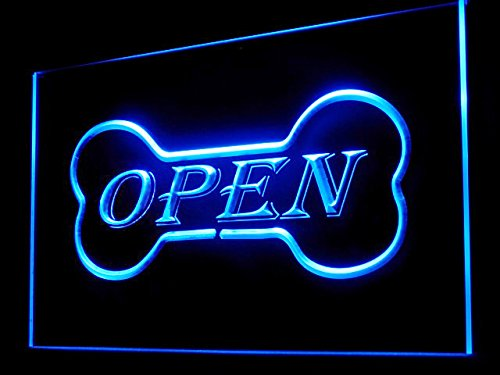C B Signs Dog Bone Pet Store Open Sign LED Neon Light Sign Dispay