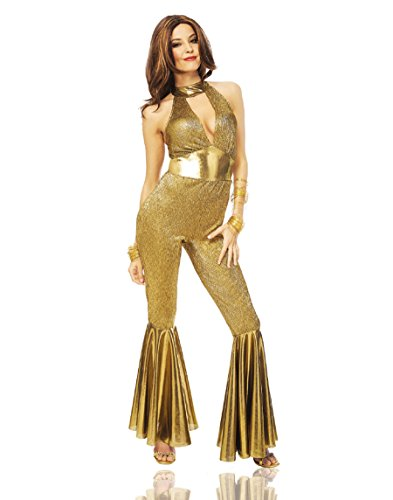 Costume Culture Women's Disco Diva Costume, Gold, Large