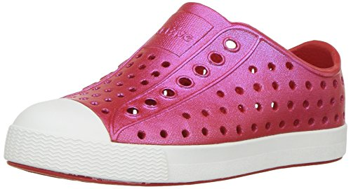 native Kids' Jefferson Iridescent Child Shoe, Torch Red/Shell White/Galaxy Iridescent,  9 Medium US Toddler by Native Shoes (Image #1)