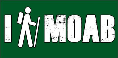 GHaynes Distributing I HIKE MOAB Sticker Decal(decal trail hiking utah) Size: 3 x 6 inch