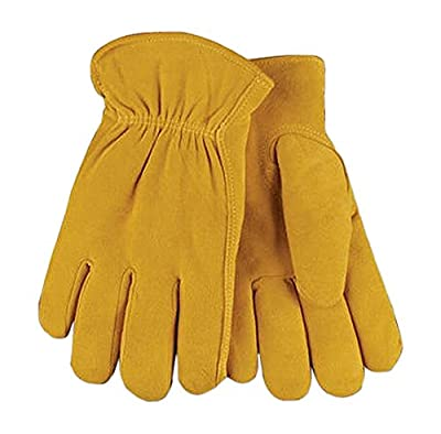 Kinco International 903HK XL Extra-Large Men's Full-Suede Deerskin Leather Gloves