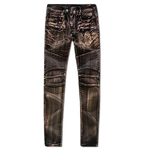 Especial Pantaloni Metallo Jeans Uomo Casual Diagonali Slim Sottili Nummer4 Elasticizzato Denim Estilo 88 Da In Bobo A8z05