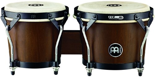 Meinl Percussion HTB100WB-M Headliner Traditional Designer Series Wood Bongos, Walnut Brown