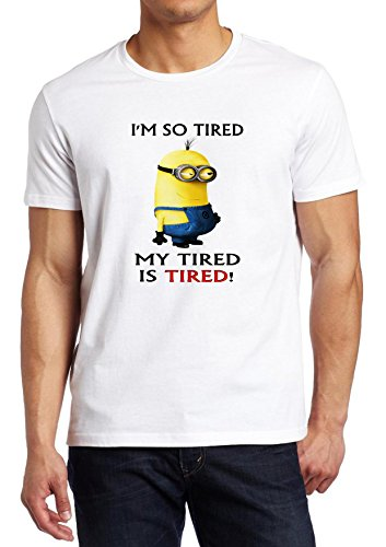 Minions I Am so Tired That My Tired Is Tired Minion Parody Shirt Custom Fruit of the Loom T-shirt (XL) (I Am So Tired compare prices)