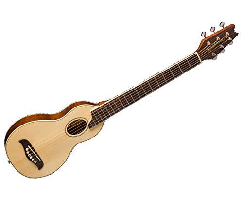 Acoustic Natural Guitar Travel (Washburn Rover RO10 6-String Travel Acoustic Guitar Package - Natural)