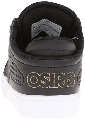 Osiris D3V Nero Oro Bianco Uomo Skate Sneaker Scarpe Stivali