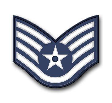 US Air Force Staff Sergeant Vinyl Transfer Decal Military Veteran Served Window Bumper Sticker Vinyl Decal 3.8