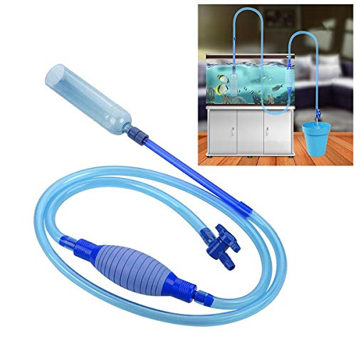 NewerFire Fish Tank Gravel Cleaner, Aquarium Cleaning Vacuum Siphon Pump Kit for Fish Tank, with Large Airbag and Adjustable Water Flow Controller for Water Changing and Gravel Cleaning-BPA Free