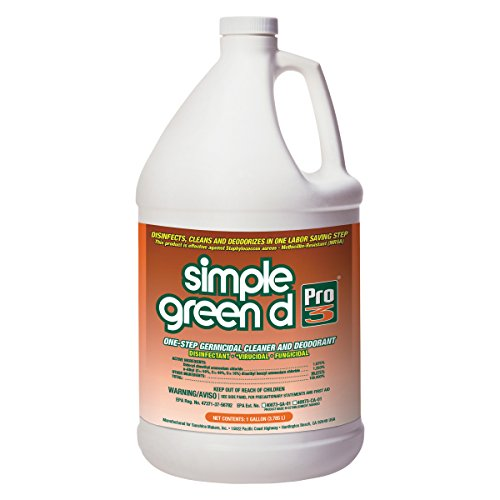 Simple Green 30301 d Pro 3 One-Step Germicidal Cleaner, Deodorant 1gal Refill Bottle, Childproof Cap