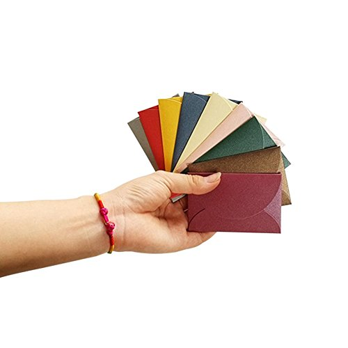 Axe Sickle 50pcs Mini Foldable Gift Card Envelopes - personalize gift cards,wedding or Birthday Party place cards,name cards,thank you notes and more,multicolor 50pcs