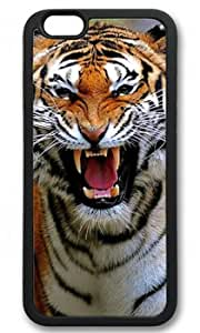 Tiger Roar Customized Rubber Black iphone 6 Case By Custom Service Your Perfect Choice