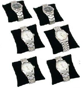 (Regal Pak ® 6 Pieces Small Black Velvet Bracelet/Watch Pillow 3