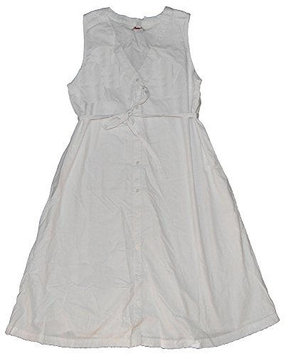 GAP Maternity White Dobby Textured Mini Stripe Shirt Sun Dress Size 0
