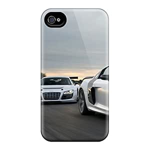 Iphone 4/4s Ouu18112AtgU Allow Personal Design High-definition Audi R8 Skin Durable Hard Cell-phone Cases -JohnPrimeauMaurice
