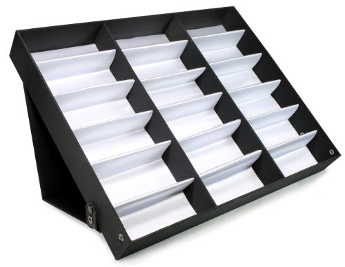 Edge I-Wear 18 pcs Sunglasses Organizer Eyewear Display Storage Case Tray D-8A from Edge I-Wear