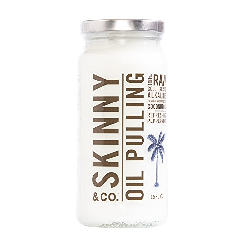 Skinny & Co. Raw 100% Oil Pulling Peppermint Coconut Oil for Healthier Teeth and Gums (16 (Peppermint Coconut Oil)