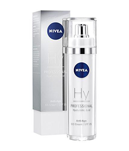 NIVEA PROFESSIONAL Ácido hialuronico CC Cream FP15, crema facial antiedad, crema antiarrugas con acido hialuronico para hidratar la piel, crema antienvejecimiento de dia, 1 x 50 ml