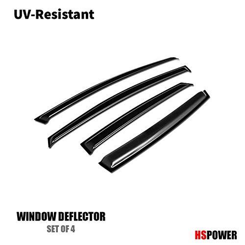 (HS Power Sun/Rain Guard Smoke Vent Shade Deflector Window Visors 12-17 Ford Focus 4D/4Dr)