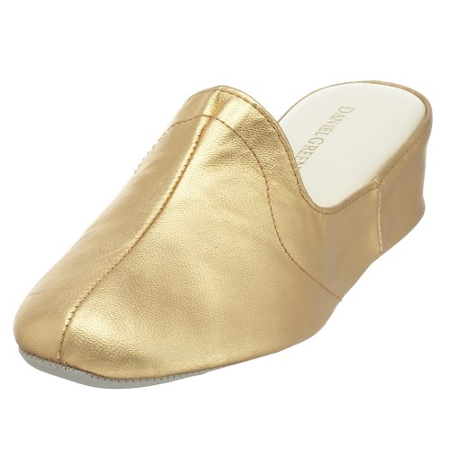 (Daniel Green Women's Glamour Slipper,Gold Kidskin,10 M)