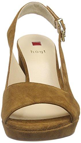 Högl 1- 10 9612 - Zapatos de Talón Abierto Mujer Marrón - Braun (2600)