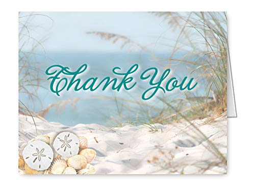 - Beach Seashell Sand Dollar Thank You Cards Note Invitations Set of 65