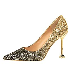 Women's Glittering Pointed Toe Stiletto High Heels