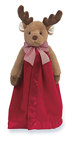 1st Baby Blanket (Bearington Baby Lil' Reindeer Snuggler, Christmas Plush Security Blanket, Lovey 15
