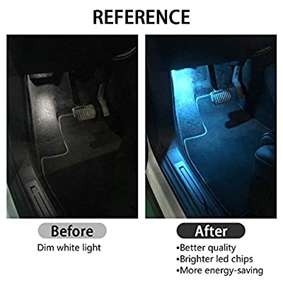 LECART Car Interior LED Car Door Light Dome LED License Plate Upgrade Lighting Replacement Ultra-bright Easy-Plug Compatible Kit Lamp for Tesla Model 3 Model S Model X Door Light Bulbs (ICE BLUE 2PCS): Automotive