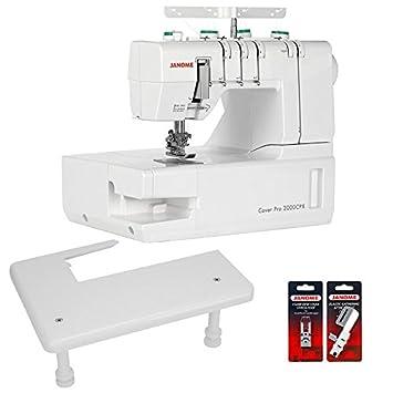 Janome Cover Pro 2000 CPX Máquina de coser cover con zona de trabajo y 2 pies de costura: Amazon.es: Hogar