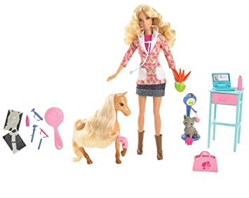 Barbie N8412-0 - Me gustaría veterinario ...: Amazon.es: Juguetes y juegos