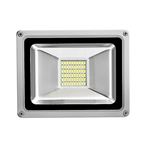 30Watt 12V Led Flood Light, 2100Lm, Super Bright Daylight White, SMD 5730, 6000K Outdoor Security Wash off Road Light Gray Base by Coolkun (Image #1)