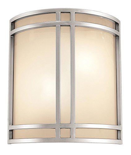 Access Lighting 20420-SAT/OPL Artemis ADA Cage Wall Sconce, Satin Finish with Opal Glass Shade