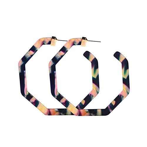 - Resin Hoop Earrings for Women - Artilady Statement Acrylic Hoop Earring Gift for Girls Daily Wearing Jewelry (Purple)