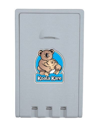Bobrick KB101-00 Koala Kare High Density Polyethylene Vertical Wall Mounted Baby Changing Station, Cream Finish, 22
