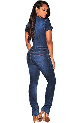 NEW Mesdames Denim foncé Combinaison Combinaison pour Casual Wear Club Porter Parti Porter Denim Vêtements Taille M 12–14EU 40–42