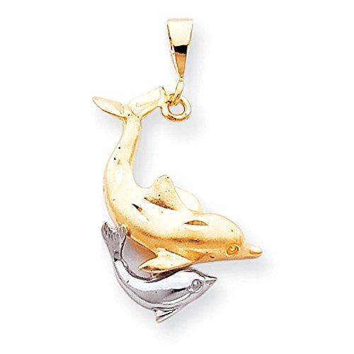10K Or bicolore Dolphin charme-Or de qualité plus élevé que or 9carats