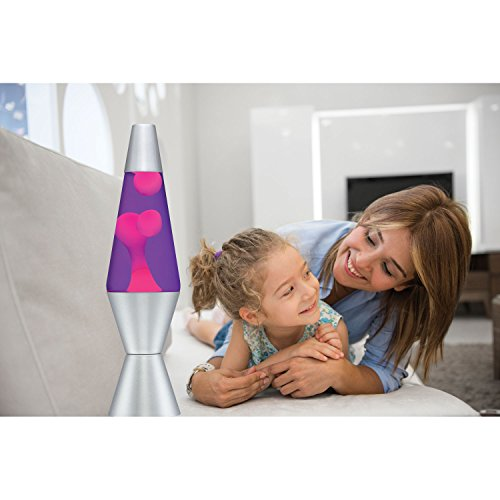 047162021214 - Lava Lite 2121 14.5-Inch Classic Silver-Based Lava Lamp, Pink Wax/Purple Liquid carousel main 3