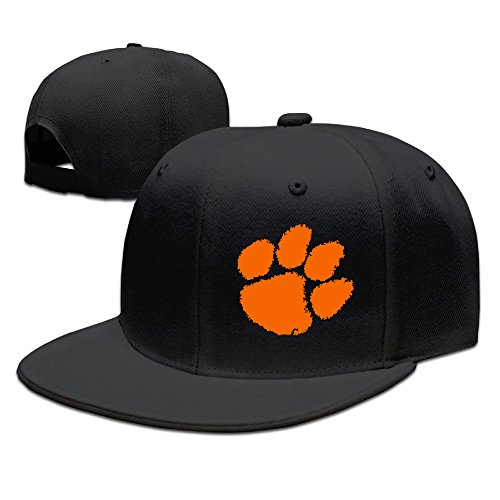 [SSEE Unisex Clemson Claw Logo University Flat Bill Trucker Hats Caps Black] (Miley Cyrus Disney Costume)