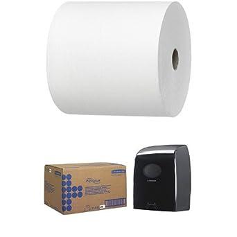 Kimberly-Clark 6667 - Caja 6 recambio toalla en rollo, color blanco Y Dispensador: Amazon.es: Industria, empresas y ciencia
