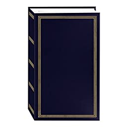 3-Ring Photo Album 504 Pockets Hold 4x6 Photos, Navy Blue