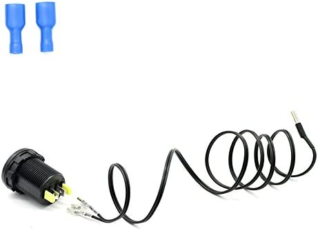 ACHICOO Auto Parts Accesorios para Motocicleta Mini OLED DC 12V/24V termómetro Digital OLED Pantalla PC Shell -40-120°C medidor de Temperatura Accesorios termómetro para Coche Motocicleta
