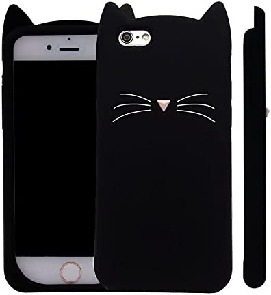 iPhone 6S Case, XINSIR Cute 3D Black Meow Party Cat Kitty Whiskers ...