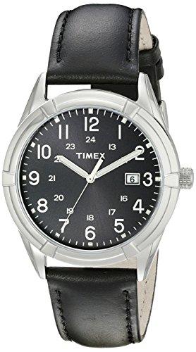 Timex Men's TW2P76700 Easton Avenue Black Leather Strap Watch